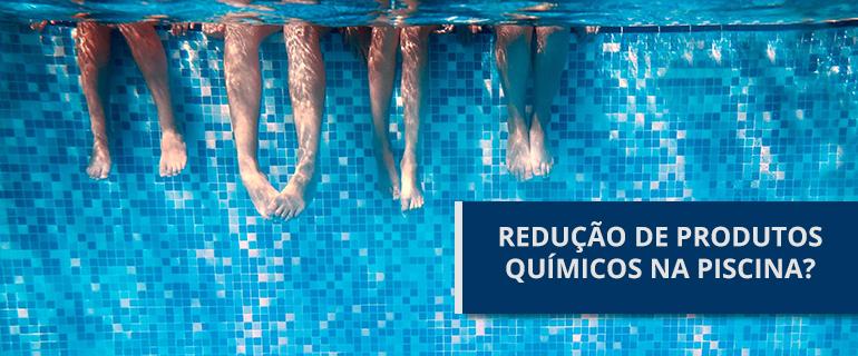 reduzir produtos químicos na piscina